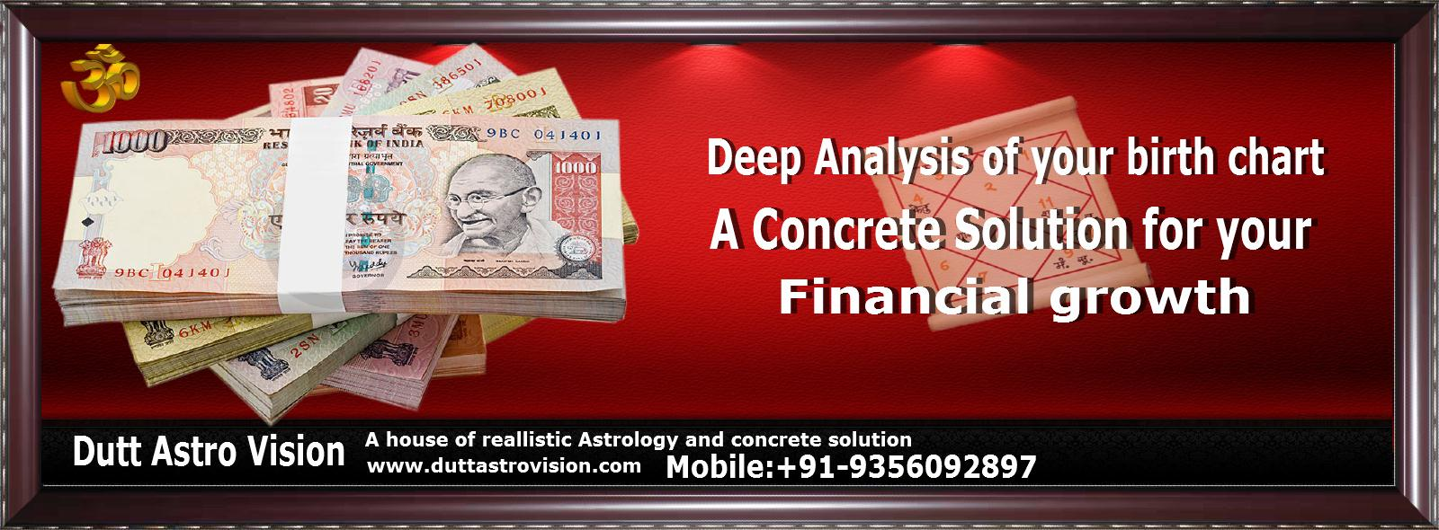 A concrete Astrological solution for your financial growth By Astrologer Parkash Dutt in Ludhiana