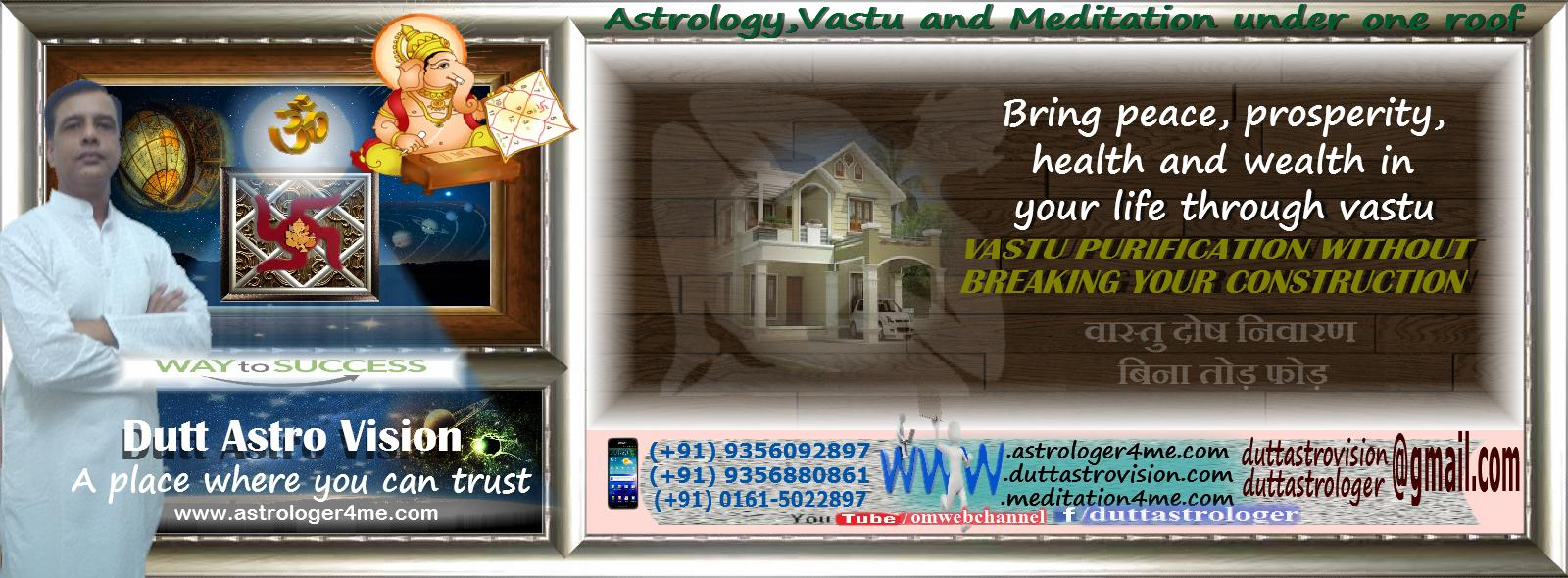 Get Vastu Consultation by Astrologer Parkash Dutt for peace, prosperity, health, and wealth in your life